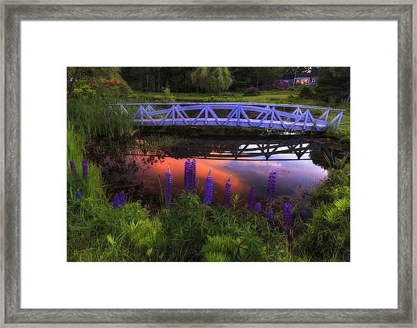 Footbridge Sunset Framed Print