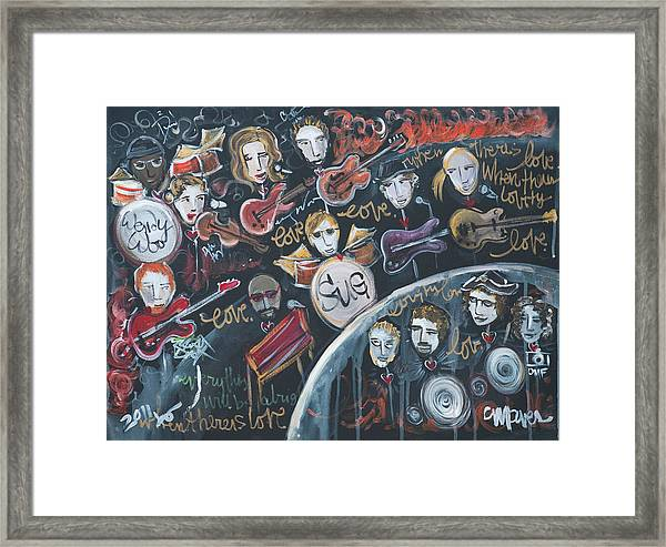 Framed Print featuring the painting For Ben by Laurie Maves ART