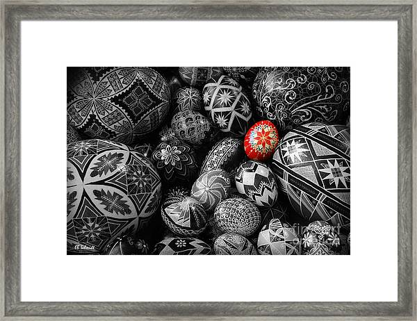 For The Love Of Pysanky Framed Print