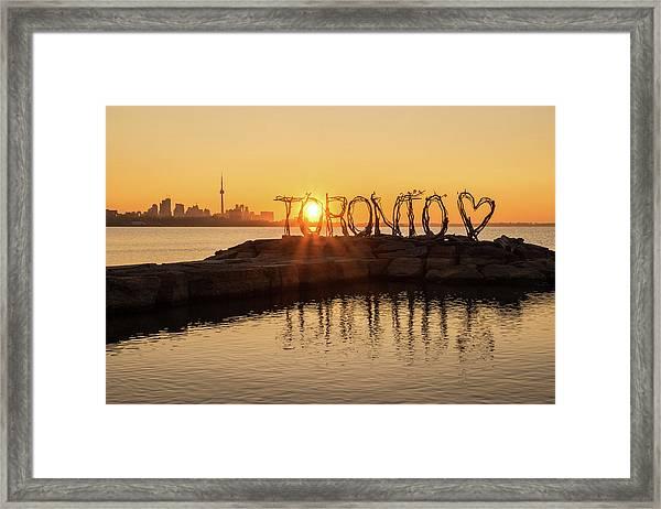 For The Love Of Toronto Framed Print