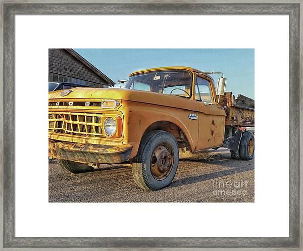 Ford F-150 Dump Truck Framed Print