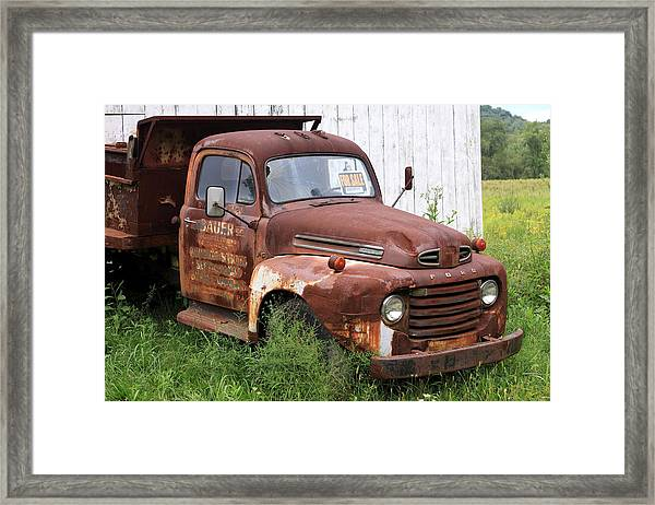 Ford F1 Framed Print by Dennis Morgan