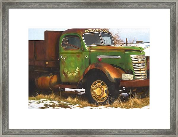 Ford Farm Truck Painterly Impressions Framed Print