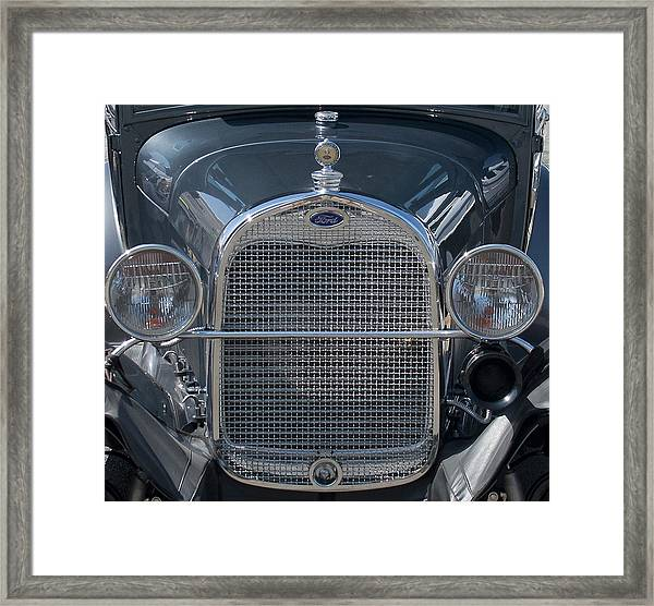 Ford Grill Framed Print