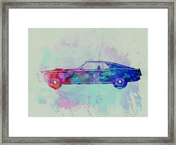 Ford Mustang Watercolor 1 Framed Print
