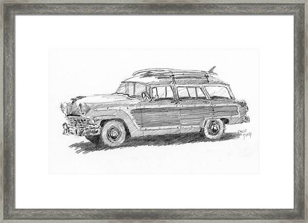 Ford Wagon Sketch Framed Print