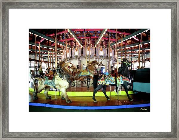 Forest Park Carousel Framed Print