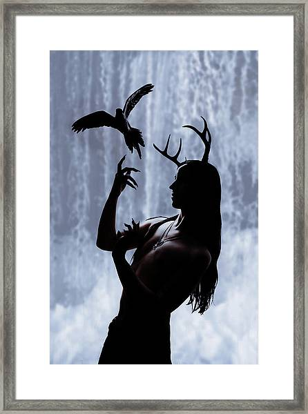 Forest Spirit Framed Print by Cambion Art