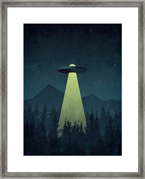 Forest Ufo Framed Print