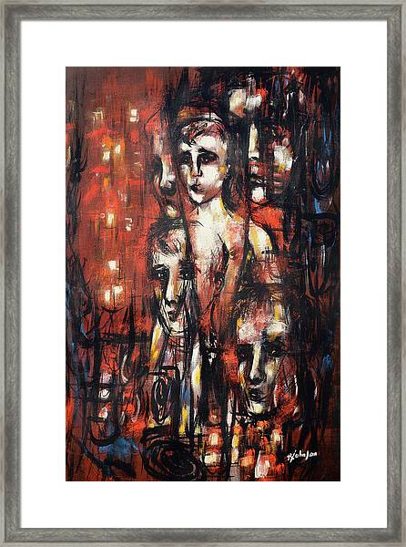 Framed Print featuring the painting Forever Being Brave by R Johnson