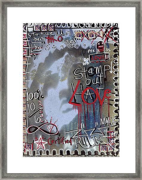 Forever Stamp Framed Print