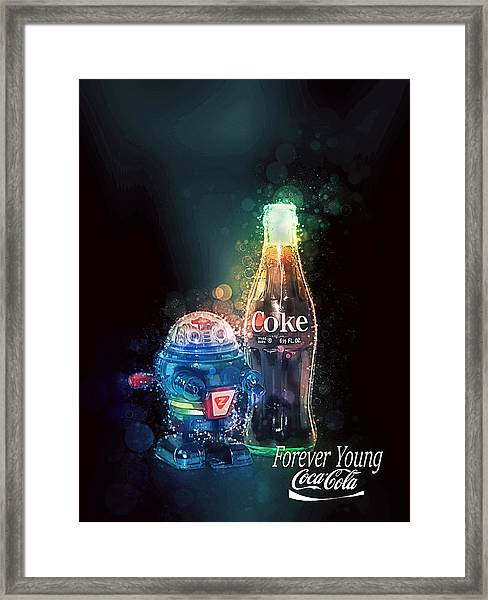 Forever Young Coca-cola Framed Print