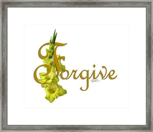 Forgive Framed Print