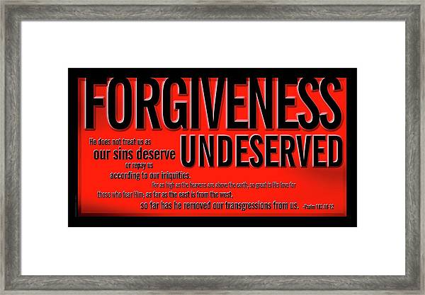 Framed Print featuring the digital art Forgiveness Undeserved by Shevon Johnson