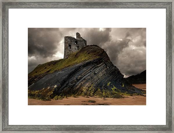 Forgotten Castle In Ballybunion Framed Print
