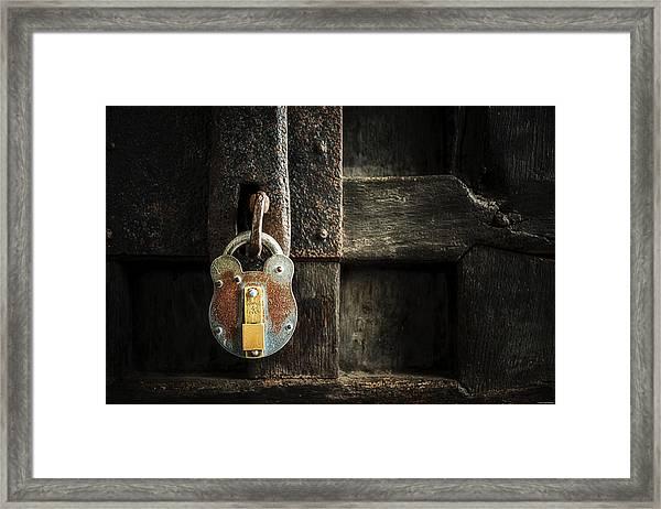 Forgotten Lock Framed Print