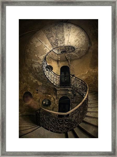 Forgotten Staircase Framed Print