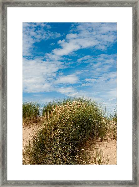 Formby Sand Dunes And Sky Framed Print