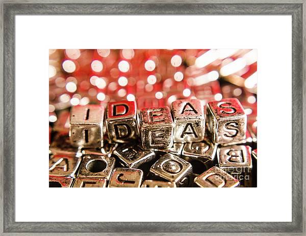 Formulation Of Ideas Framed Print
