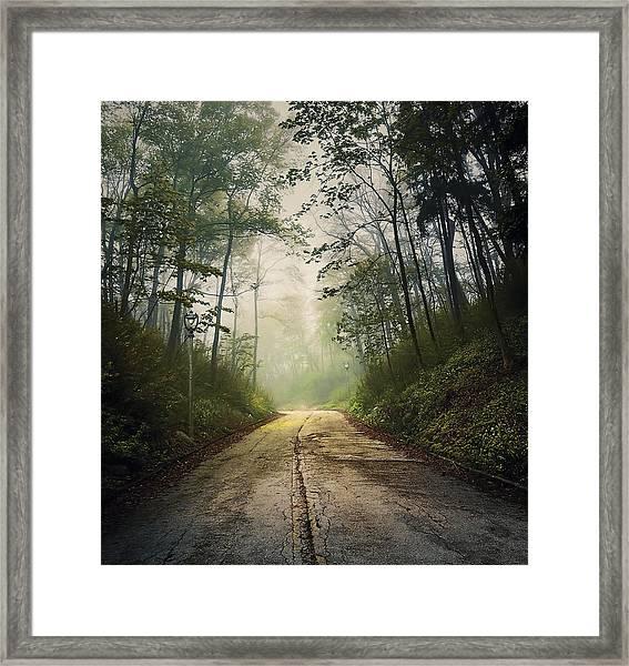 Forsaken Road Framed Print