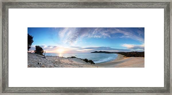 Forster One Mile Beach Framed Print