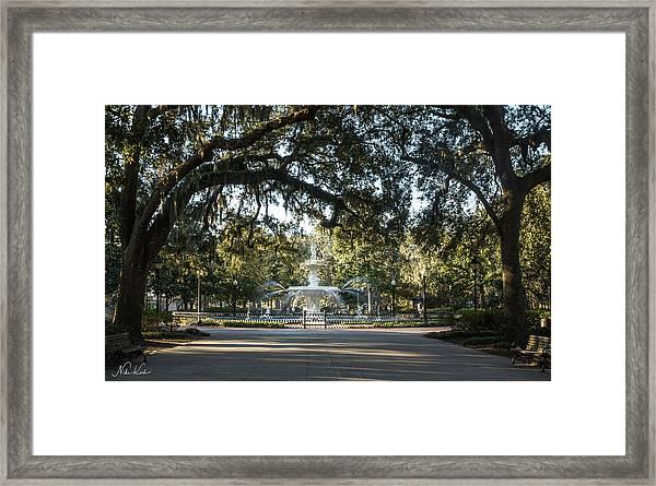 Forsyth Park Framed Print