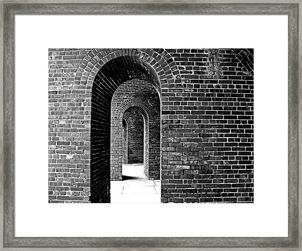 Fort Arches In Black And White Framed Print