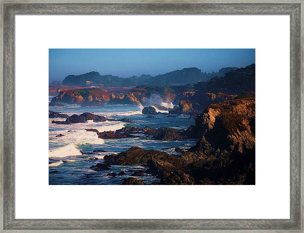 Fort Bragg Coastline Framed Print by Helen Carson