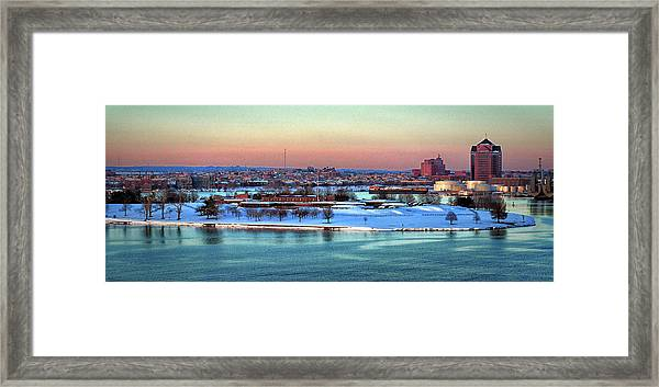 Fort Mchenry Shrouded In Snow Framed Print