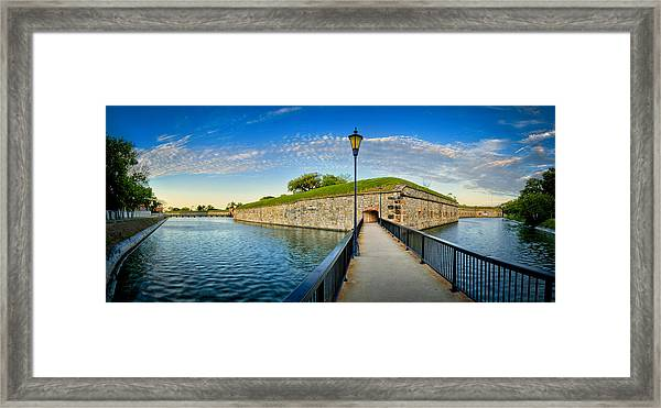 Framed Print featuring the photograph Fort Monroe by Williams-Cairns Photography LLC