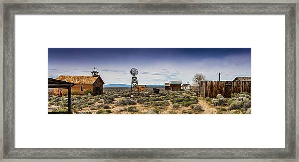 Fort Rock Museum Framed Print