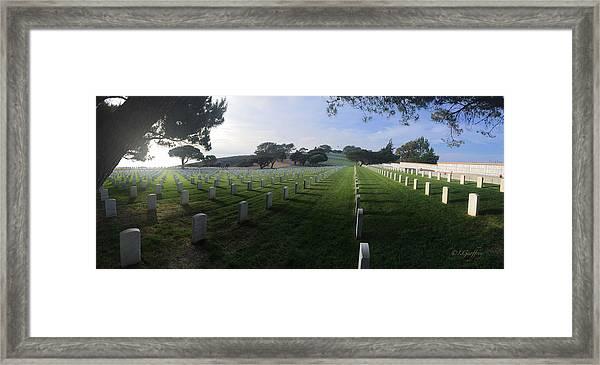 Fort Rosecrans National Cemetery Framed Print