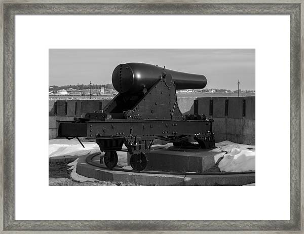 Fort Trumbull Cannon Framed Print