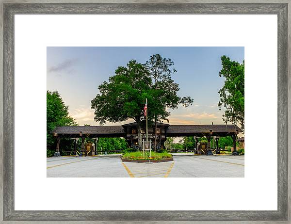 Fort Wilderness Gate Framed Print
