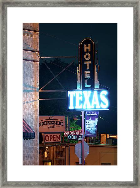 Fort Worth Hotel Texas 6616 Framed Print