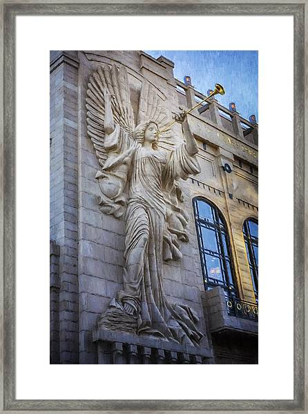 Fort Worth Impressions Bass Hall Angel Framed Print