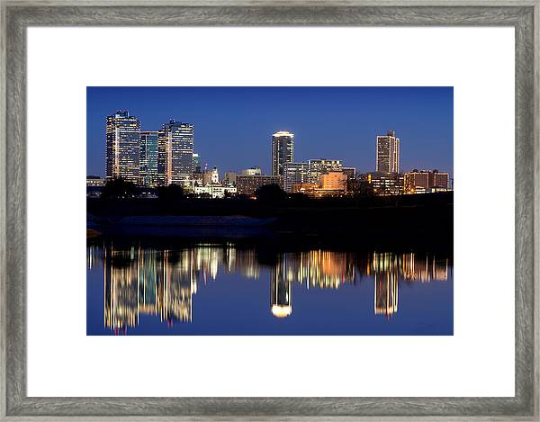 Fort Worth Reflection 41916 Framed Print