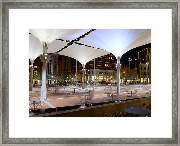 Fort Worth Sundance Square Framed Print
