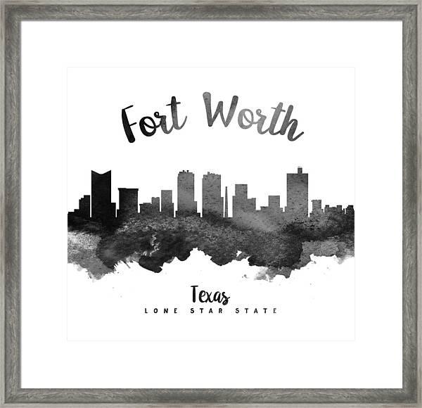 Fort Worth Texas Skyline 18 Framed Print