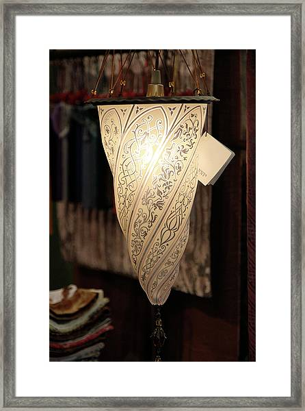Fortuny Lamp Framed Print