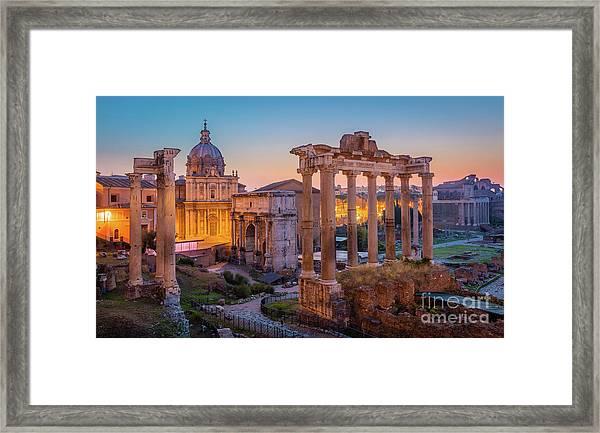 Forum Romanum Dawn Framed Print