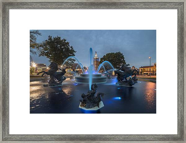 Fountain Blue Framed Print