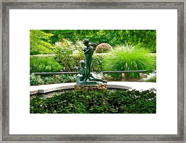 Fountain In The Park Framed Print