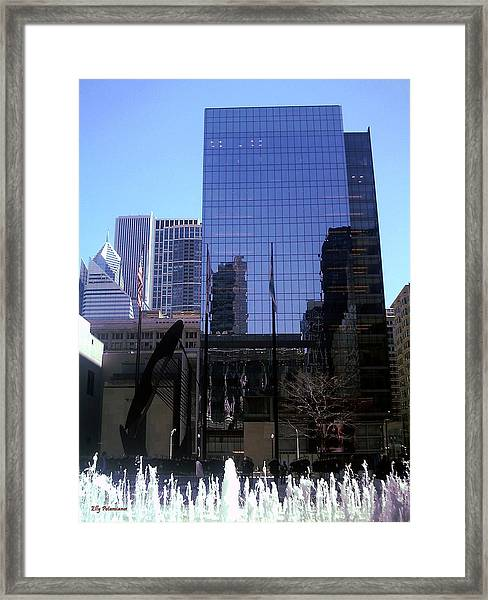 Fountain View Framed Print