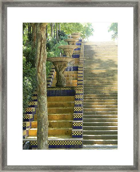 Fountains At Montjuic Framed Print