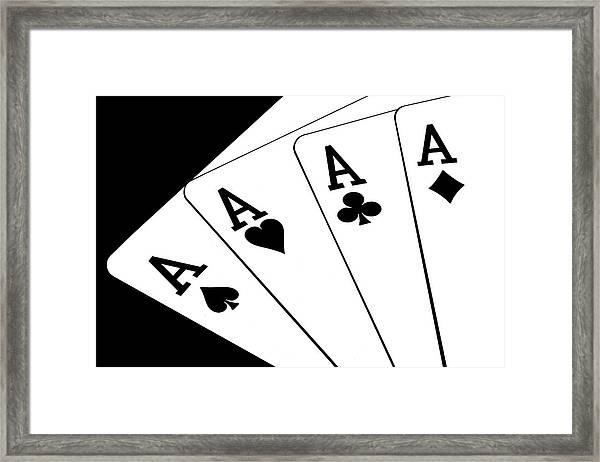 Four Aces I Framed Print