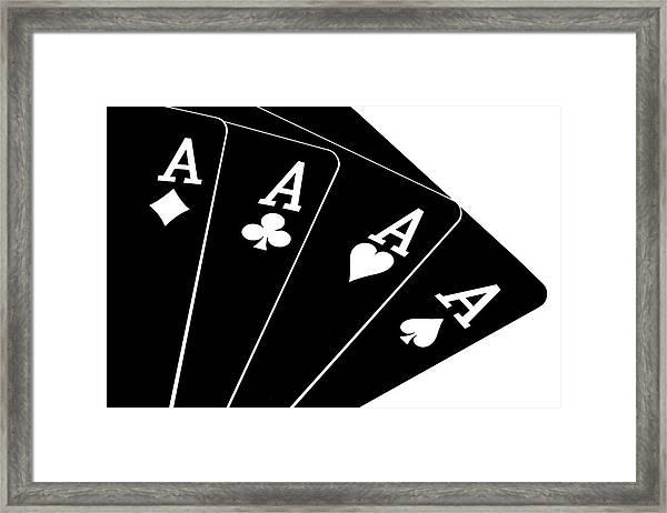 Four Aces II Framed Print