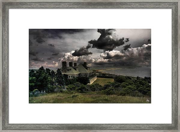 Four Chimneys In A Cuttyhunk Storm Framed Print