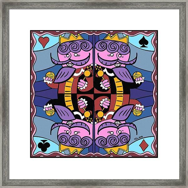 Four Kings Framed Print