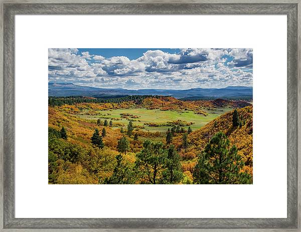 Framed Print featuring the photograph Four Mile Road Peak Color by Jason Coward